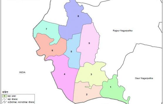 MAP of Ishnath Municipality